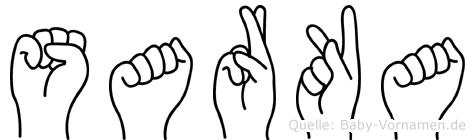 Sarka in Fingersprache für Gehörlose