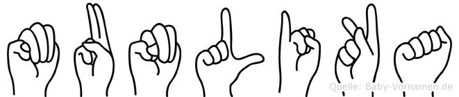 Munlika in Fingersprache für Gehörlose