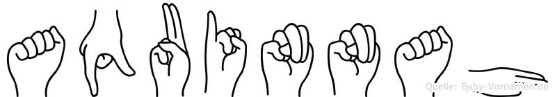 Aquinnah im Fingeralphabet der Deutschen Gebärdensprache