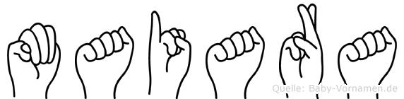 Maiara im Fingeralphabet der Deutschen Gebärdensprache