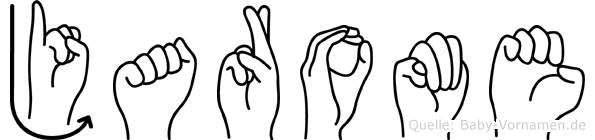 Jarome in Fingersprache für Gehörlose
