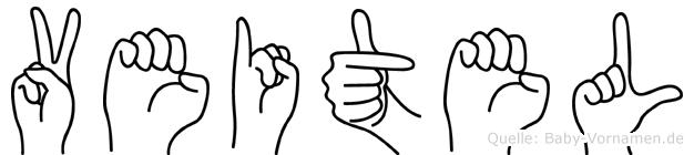 Veitel im Fingeralphabet der Deutschen Gebärdensprache