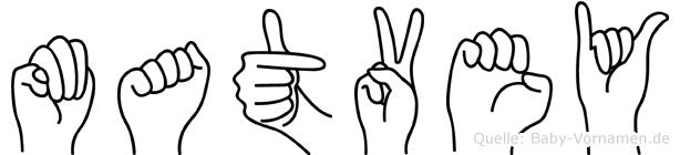 Matvey im Fingeralphabet der Deutschen Gebärdensprache