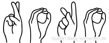 Roko in Fingersprache für Gehörlose