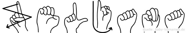 Zeljana in Fingersprache für Gehörlose