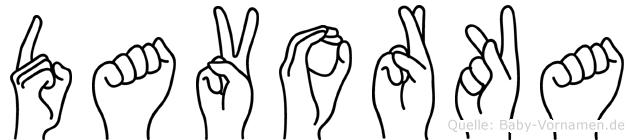 Davorka in Fingersprache für Gehörlose