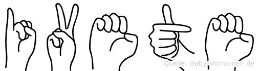 Ivete im Fingeralphabet der Deutschen Gebärdensprache