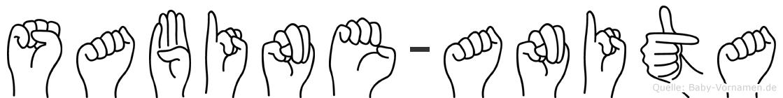 Sabine-Anita im Fingeralphabet der Deutschen Gebärdensprache