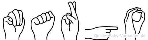 Margo in Fingersprache für Gehörlose