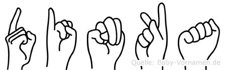 Dinka im Fingeralphabet der Deutschen Gebärdensprache