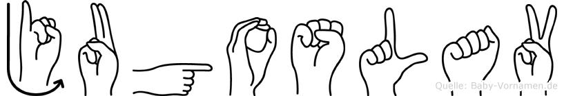 Jugoslav in Fingersprache für Gehörlose