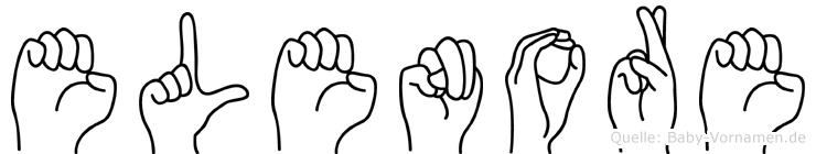 Elenore im Fingeralphabet der Deutschen Gebärdensprache