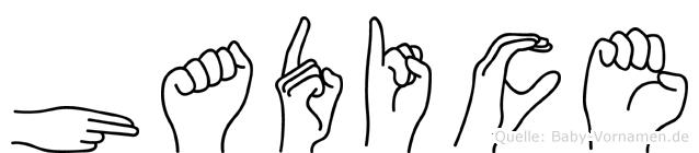 Hadice im Fingeralphabet der Deutschen Gebärdensprache