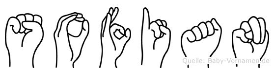 Sofian im Fingeralphabet der Deutschen Gebärdensprache