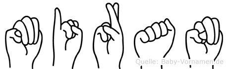 Miran im Fingeralphabet der Deutschen Gebärdensprache