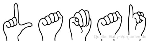 Lamai in Fingersprache für Gehörlose
