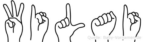Wilai im Fingeralphabet der Deutschen Gebärdensprache