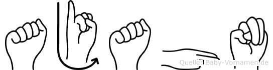 Ajahn in Fingersprache für Gehörlose
