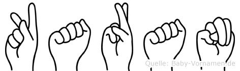 Karan in Fingersprache für Gehörlose
