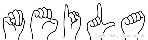 Neila im Fingeralphabet der Deutschen Gebärdensprache