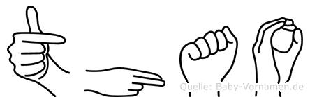 Thao in Fingersprache für Gehörlose