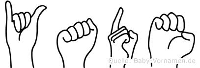 Yade in Fingersprache für Gehörlose