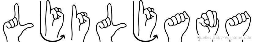 Ljiljana in Fingersprache für Gehörlose