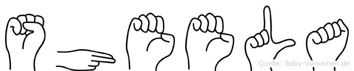 Sheela in Fingersprache für Gehörlose