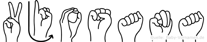 Vjosana in Fingersprache für Gehörlose