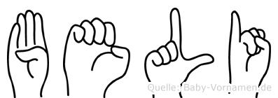 Beli in Fingersprache für Gehörlose