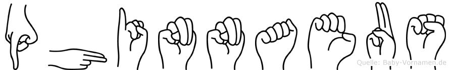 Phinnaeus im Fingeralphabet der Deutschen Gebärdensprache
