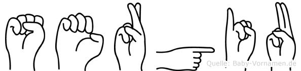 Sergiu im Fingeralphabet der Deutschen Gebärdensprache