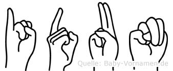 Idun in Fingersprache für Gehörlose