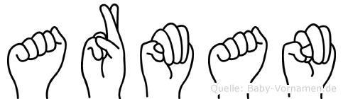 Arman in Fingersprache für Gehörlose