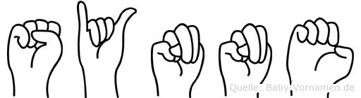 Synne im Fingeralphabet der Deutschen Gebärdensprache