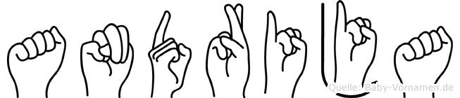 Andrija im Fingeralphabet der Deutschen Gebärdensprache