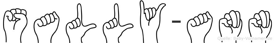 Sally-Ann im Fingeralphabet der Deutschen Gebärdensprache
