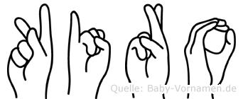 Kiro in Fingersprache für Gehörlose