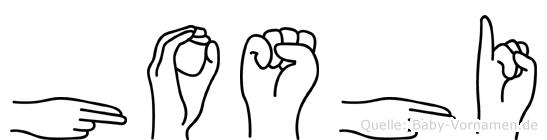 Hoshi im Fingeralphabet der Deutschen Gebärdensprache