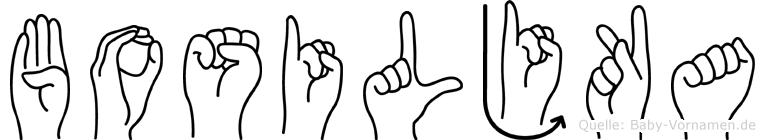 Bosiljka im Fingeralphabet der Deutschen Gebärdensprache