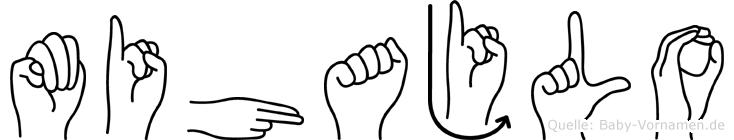Mihajlo im Fingeralphabet der Deutschen Gebärdensprache