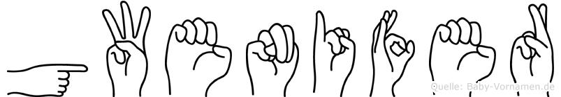 Gwenifer im Fingeralphabet der Deutschen Gebärdensprache
