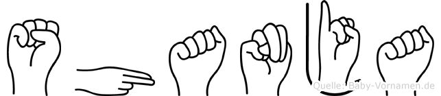 Shanja in Fingersprache für Gehörlose