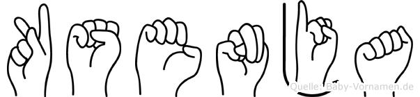 Ksenja im Fingeralphabet der Deutschen Gebärdensprache