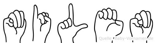 Milen im Fingeralphabet der Deutschen Gebärdensprache