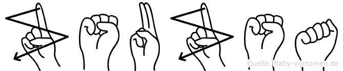 Zsuzsa in Fingersprache für Gehörlose