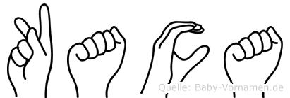 Kaca im Fingeralphabet der Deutschen Gebärdensprache
