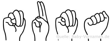 Numa in Fingersprache für Gehörlose