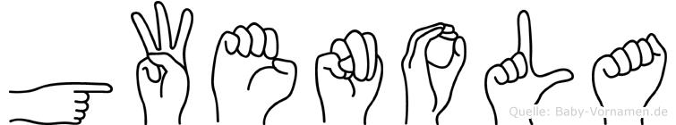 Gwenola im Fingeralphabet der Deutschen Gebärdensprache