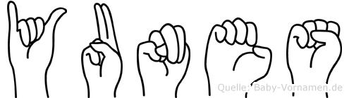 Yunes in Fingersprache für Gehörlose